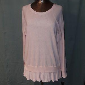 * AB Studio Layered Look L/S Sweater Blush Peach